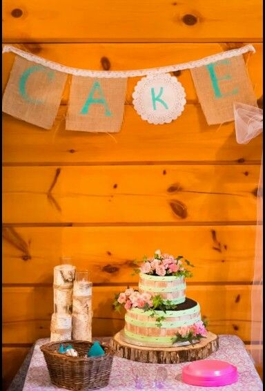 Our adorably beautiful wedding cake! #cake #country #rustic #wedding #roses