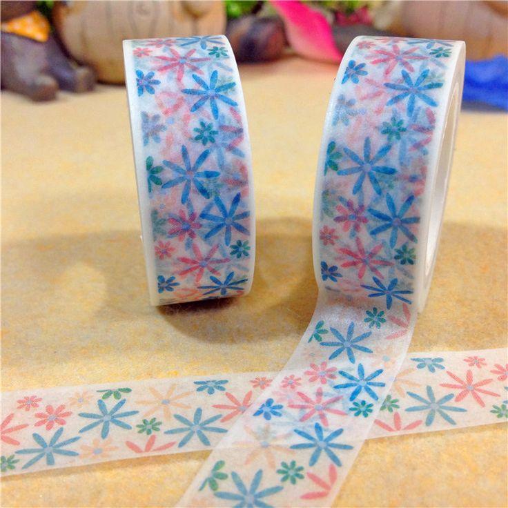 New 1x Colorful Flowers Cartoon Patterned DIY Japanese Washi Tape Decorative Masking Tape 10M Cinta Adhesiva for Scrapbooking  //Price: $US $1.79 & FREE Shipping //     #crafting #scrapbooking #decor #decoration #diy #idea #inspiration