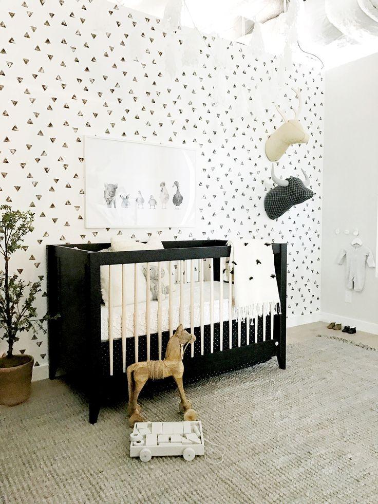 Jessica Alba's Honest Company Headquarters. Black & white nursery. Design by Consort.