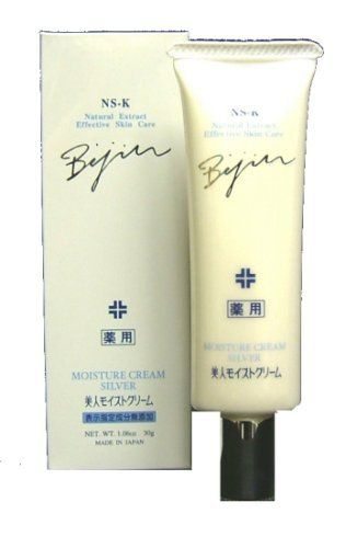 Komenuka Bijin All-Natural Premium Silver Moisture Skin Cream with Rice Bran - 30g by KOMENUKA BIJIN / NS-K. $64.95. Komenuka Bijin's Premium Moisture Cream addresses the special needs of dry or mature skin, enhancing the skin's renewal process. Yeast stimulates skin cell's regeneration and actives the metabolism. Best to use as night cream.    Product Size: Net Weight: 30g, or about 1.1 ounces.. Save 23% Off!