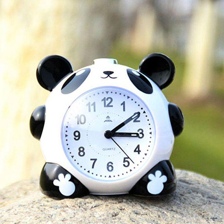 Fashion New Cute Cartoon Panda Alarm Clock Students Home Night Light Alarm Clock #Unbranded #Asian