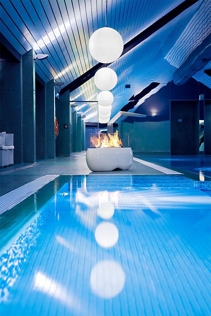 ZEN by Planika www.planikafires.com www.facebook.com/planikafire  #fireplace #poziom511 #hotel #basen #kominek #swimmingpool