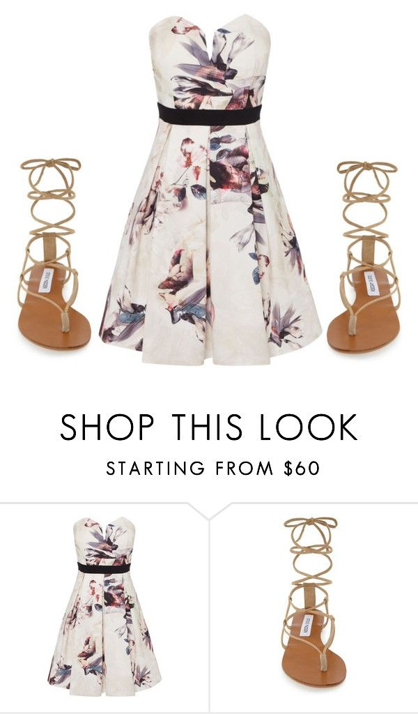 """Cute!"" by acciona-lumoson ❤ liked on Polyvore featuring Little Mistress and Steve Madden"