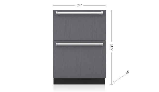 "Sub-Zero 24"" Freezer Drawers with Ice Maker - Panel Ready ID-24FI"