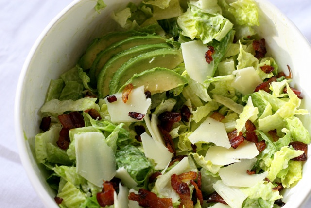Avocado and Bacon Salad with Avocado Dressing