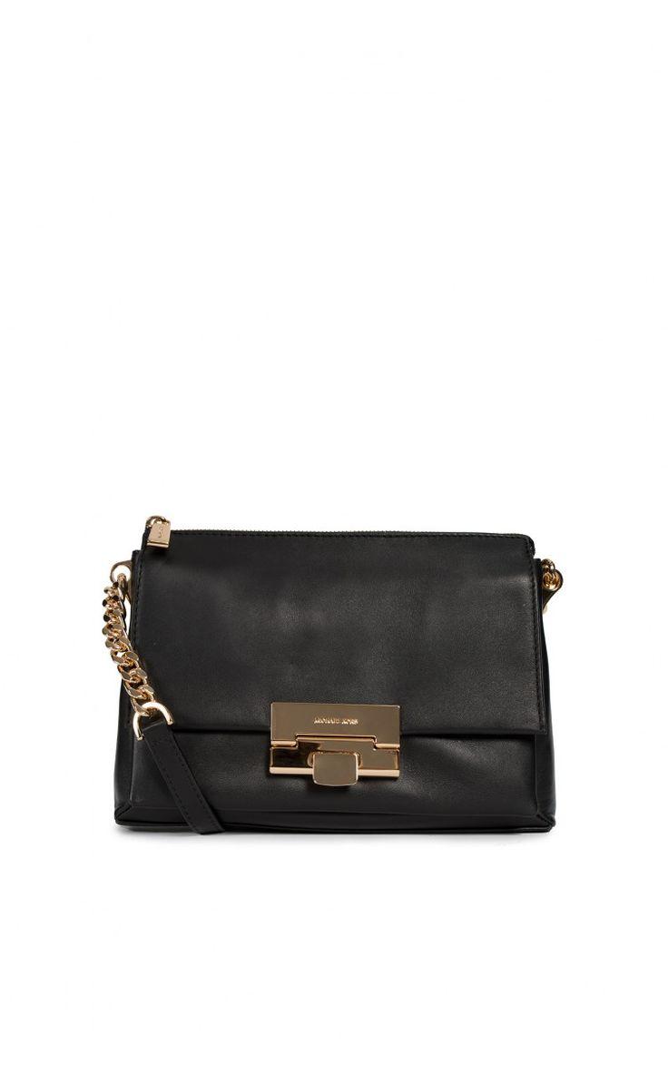 Axelremsväska Karlie LG Messenger BLACK/GOLD - handbags ss15 - Raglady