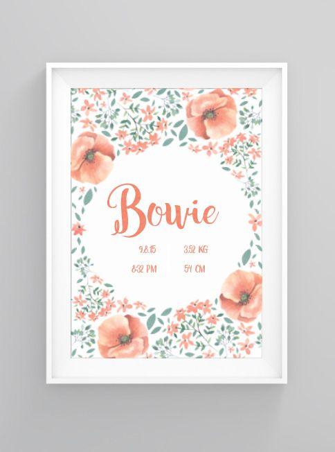 Floral birthday | print