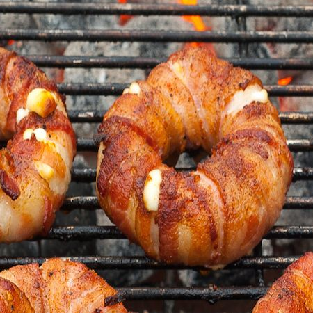 Bacon wrapped pineapple mozzeralla ring I really do NOT know where to post this, is it a Side Dish? Pork? Fruit? Salad?