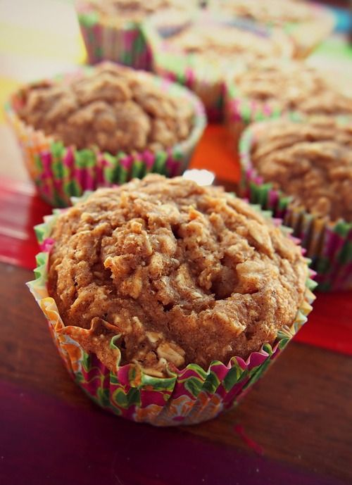60 Calories Apple Pie Muffins | • 1 C No Sugar Added Apple Pie Filling • 1/2 C Unsweetened Applesauce • 3 Medium Egg Whites • 1 C Flour • 1 C Stevia • 1 Tsp Baking Soda • 3/4 C Rolled Oats • 1 TB Cinnamon • 1 Tsp Nutmeg • 1 Tsp Vanilla…Preheat oven to 350. In an a electric mixer mix eggs, pie filling, vanilla & applesauce until smooth. Slowly add dry ingredients & mix until smooth. Scoop 1/3 cup of batter into each muffin pan cup w/ liners. Bake for 15-20 min or until toothpick comes out…