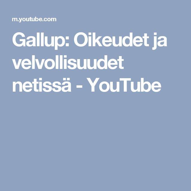Gallup: Oikeudet ja velvollisuudet netissä - YouTube
