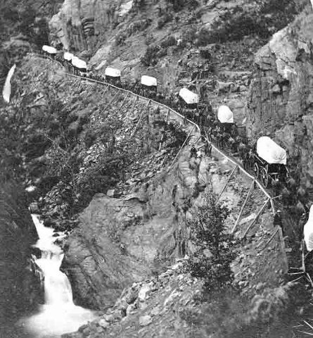 Hundreds of years ago, Ute Pass Colorado was a trail the Ute Indians would take to hunt and travel between their winter and summer camps. It later became a wagon trail carrying supplies to the gold fields during the Colorado gold rush.