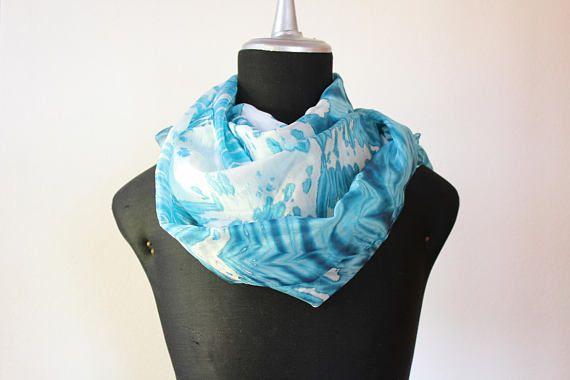 sciarpa seta tinta a mano/stola seta/sciarpa blu/scarf silk hand dyed/foulard seta/arashi shibori scarf/arashi shibori sciarpa/100%silk