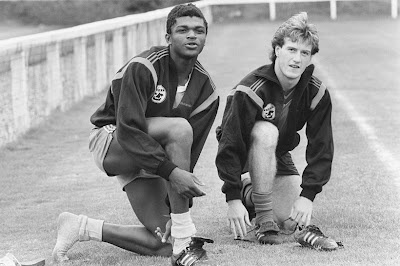 Marcel Desailly (18 years old, FC Nantes (1986–1992, 162 apps, 5 goals) and Didier Deschamps (17 years old, FC Nantes)