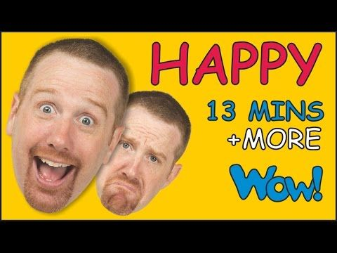 Happy and Sad + More ESL Stories for Kids | English for Children | Steve and Maggie - YouTube