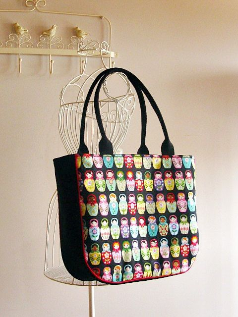 Check out this item in my Etsy shop https://www.etsy.com/listing/190563816/nesting-dolls-print-tote-bag-large-purse