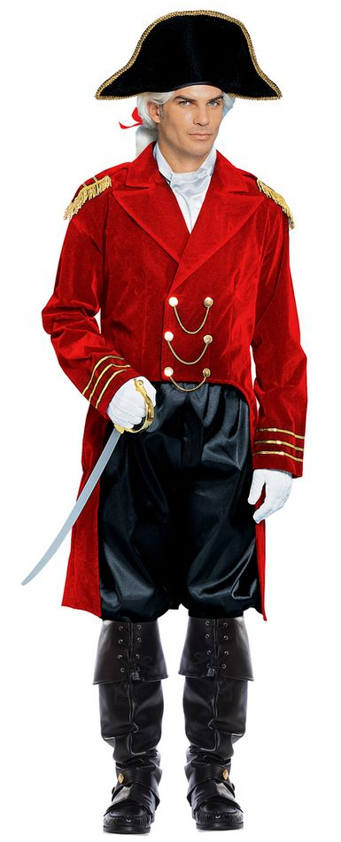 Adult Red General Costume - Candy Apple Costumes