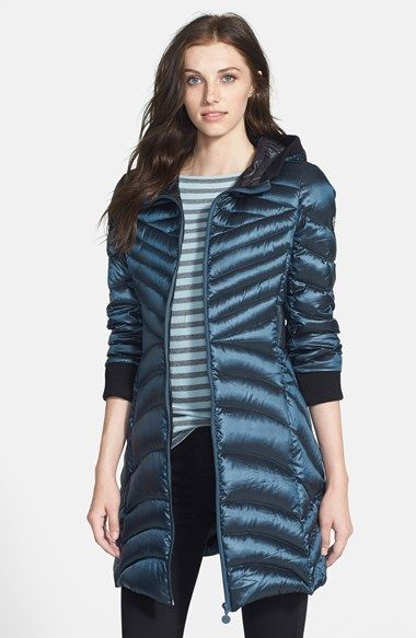 Bernardo Hooded Packable Goose Down Coat | Nordstrom