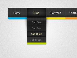 50 Creative Dropdown Navigation Menu Designs | Bashooka | Web & Graphic Design