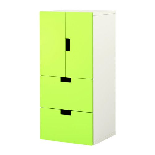 STUVA Storage combination w doors/drawers IKEA Storage to match your child's height. Makes it easier for them to reach and organize their things. $154 Comes in a variety of colors