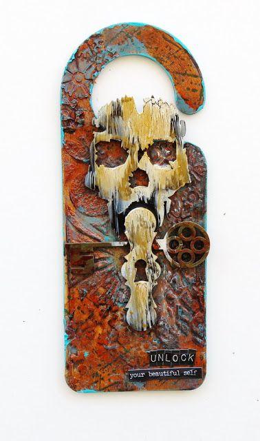 Tando Creative: Unlock your beautiful self door hanger