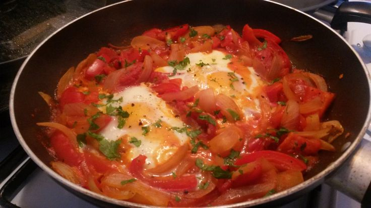 High protein and low calorie weekday dinner, Menemen