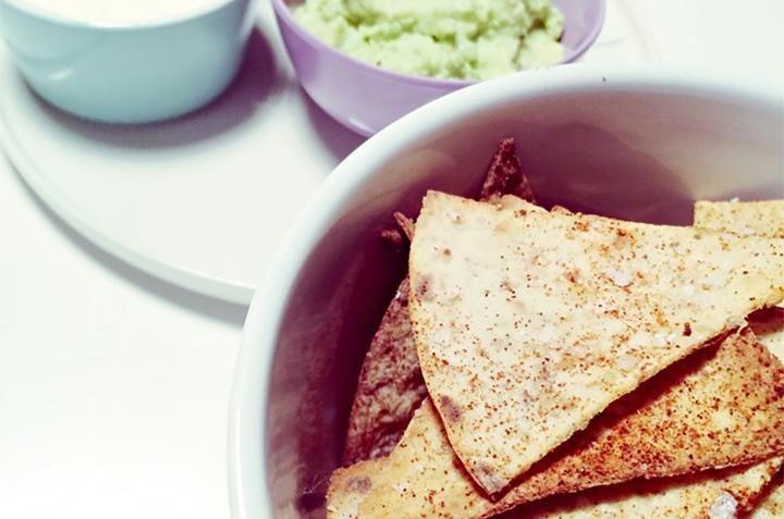Lompechips med guacamole. Foto: @bedremeg