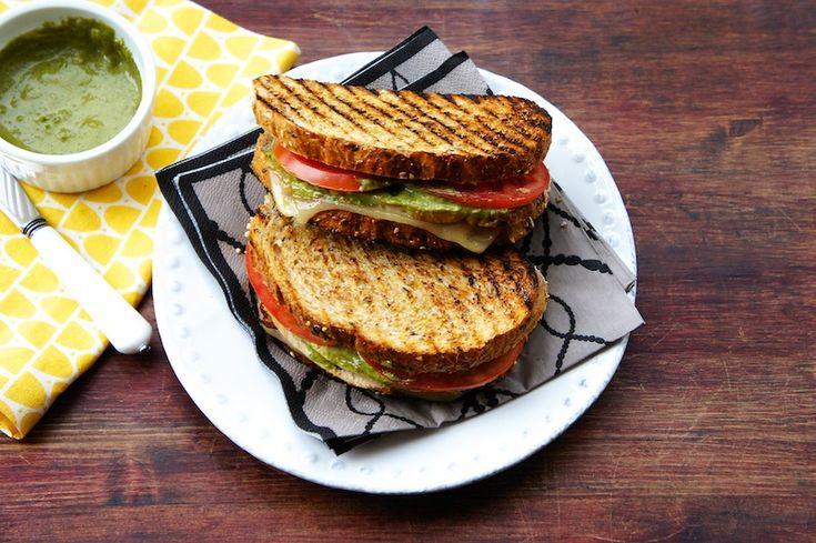 Grilled Turkey Sandwich With Basil Aioli by seasaltwithfood #Sandwich #Turkey #Aioli