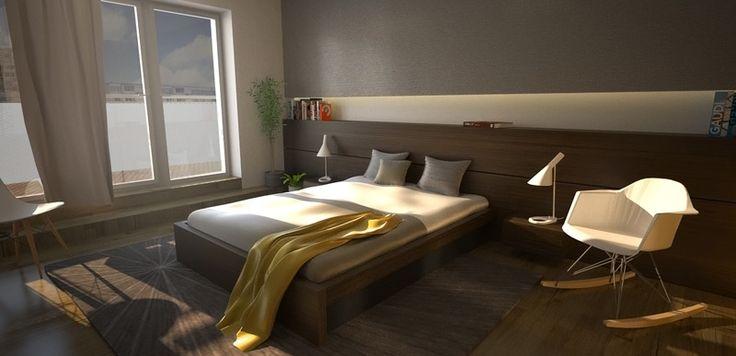 Návrh spálne - Interiér bytu, Colorhouse II - Interiérový dizajn / Bedroom interior by Archilab