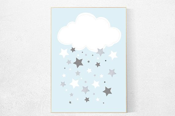 Baby jongen kwekerij decor met blauw grijze kwekerij decor