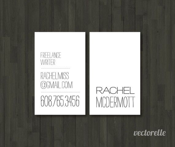 518 best business cards images on pinterest business cards carte personalized business cards simple 1 box by vectorelle on etsy reheart Images