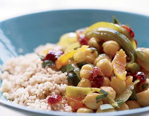 ... Couscous with Chickpeas, Dried Fruit, and Cilantro | From: prevention