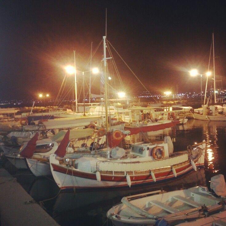 Korinthos port, Greece - NightView