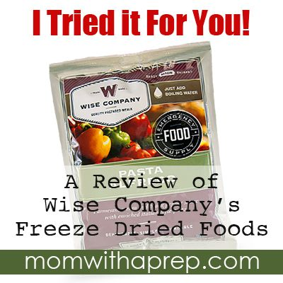 Freeze Dried Foods are a staple for the PREPared pantry...but just what do they actually taste like? I tried it for you to give you our review of a selection of Wise Food Company products. READ MORE...