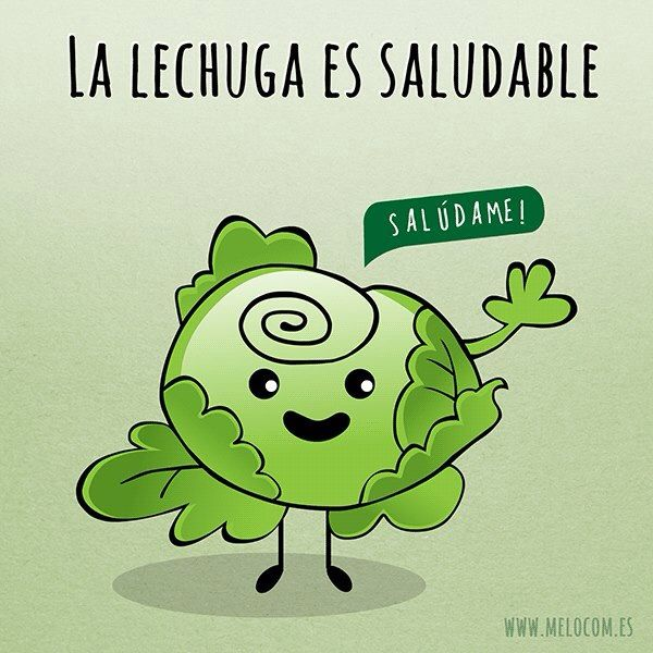 I laughed out loud at this one...Saluda a la lechuga :)