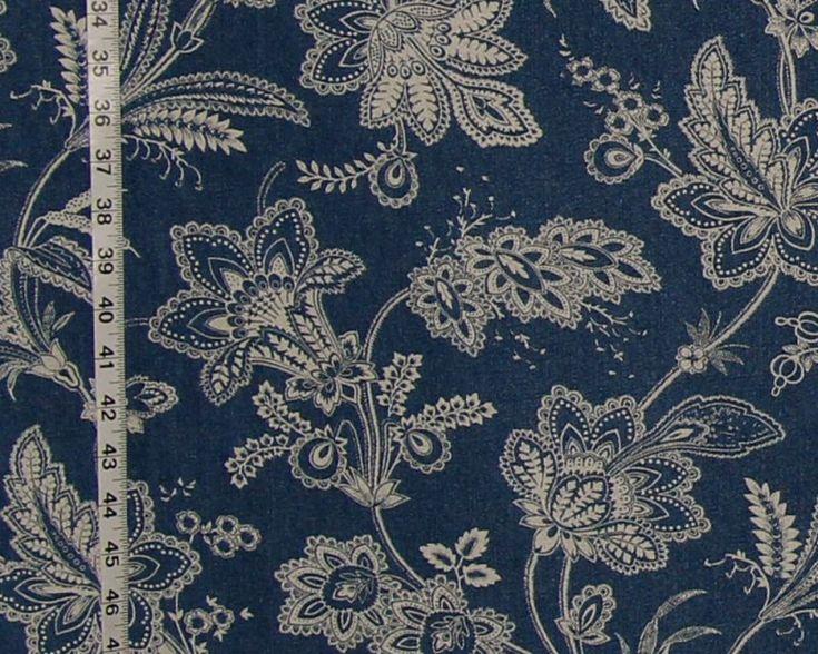 Blue denim fabric jean cowboy bandanna from Brick House Fabric: Novelty Fabric