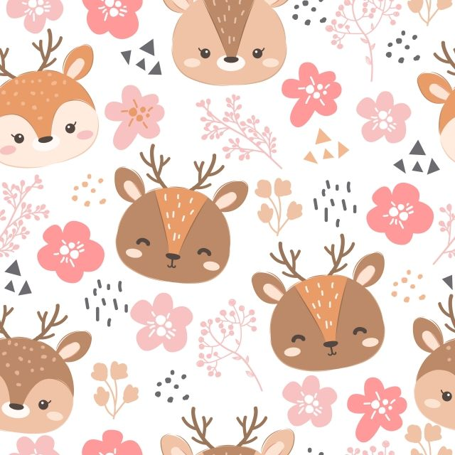 Cute Seamless Pattern For Decoration Adorable Animal Baby Png And Vector With Transparent Background For Free Download Cute Patterns Wallpaper Seamless Patterns Pattern Wallpaper