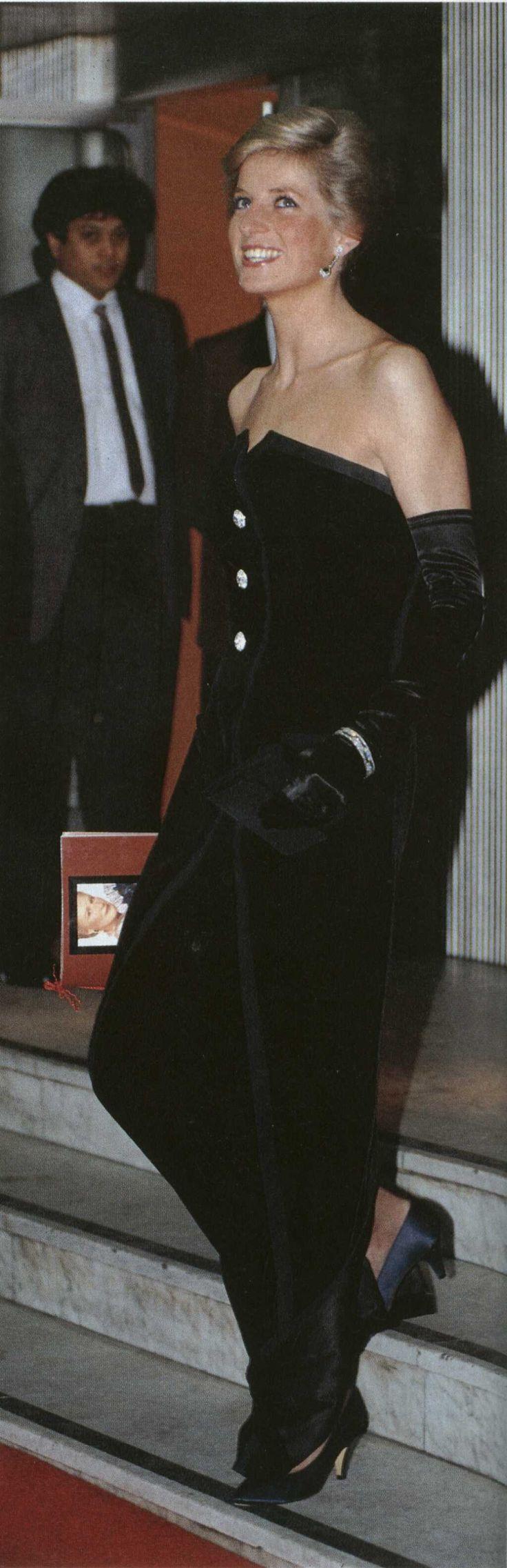Princess Diana at film premiere of Dangerous Liaisons 1989