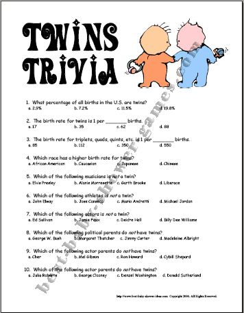 Baby Shower Twins Game Card For Twin Baby Girls , Pre Millennium Famous  Parents Of Twins, Baby Shower Game Ideas For Twins Vhfyred , Twin Ba.