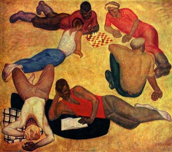 Viktor Popkov, The Team is Resting, 1965