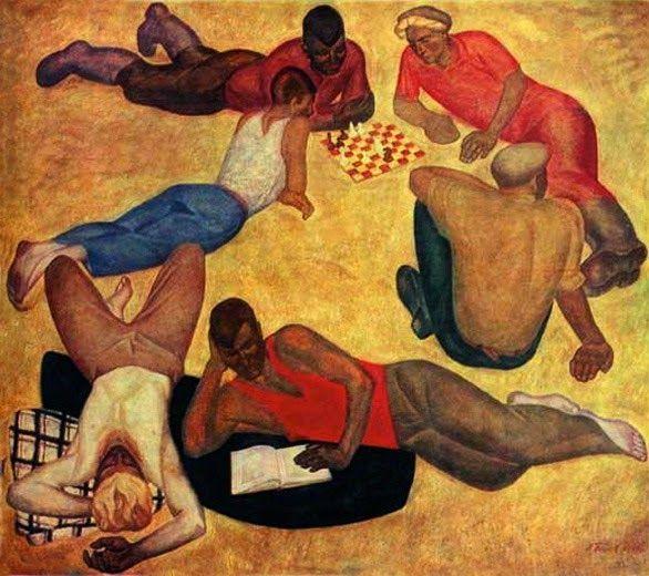 Viktor Popkov, The Team is Resting, 1965