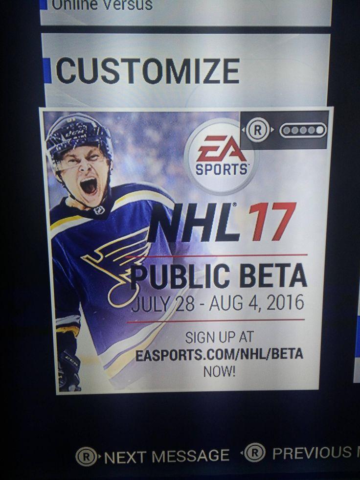 NHL 17 Beta Details / Dates - Public Testing