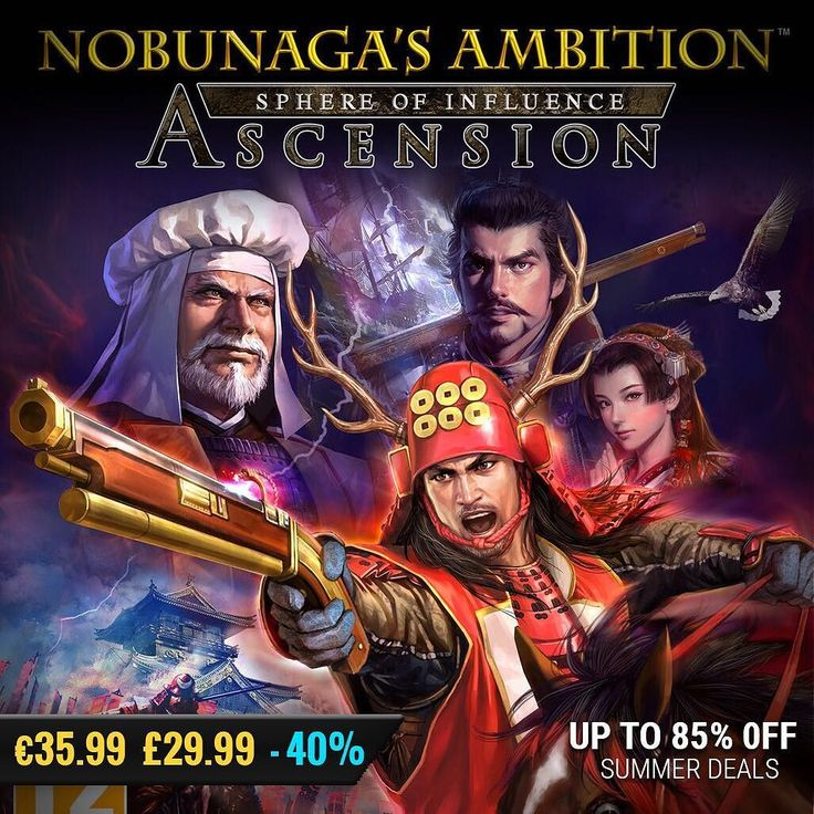 Sila Games summer sale #gamedeals NOBUNAGA'S AMBITION: Sphere of Influence - Ascension -40% Off 35.99 29.99 http://ift.tt/2tMxtWk #koeitecmo #pcgaming #pcgamer #gaming #siladeals