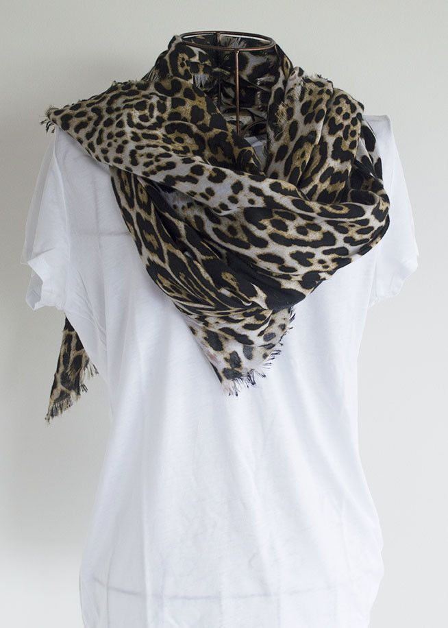 The Leopard Print Scarf