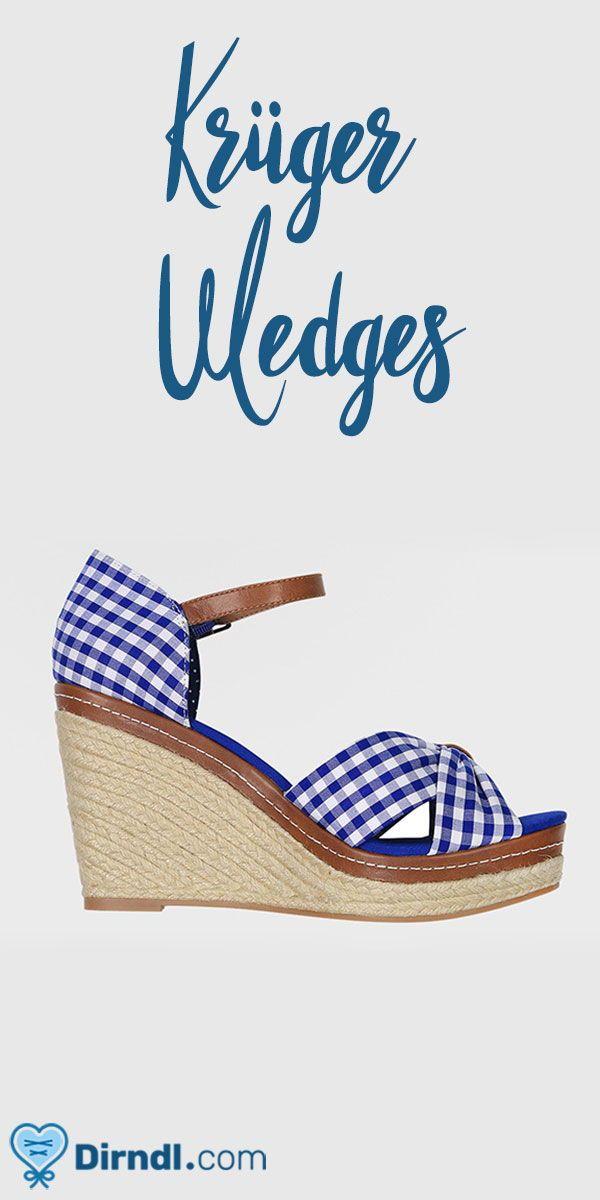 Wedges Duchess blau   Wir ♥ Schuhe zum Dirndl   Dirndl