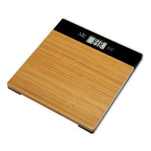 a bascula de bano electronica de bambu jata 494
