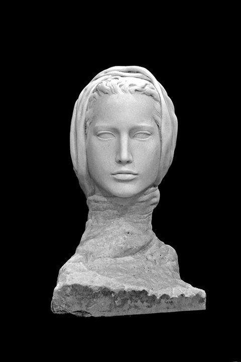 Bosnian Queen Katarina Kosaca Kotromanic, marble. by Adis Fejzic, 2005.