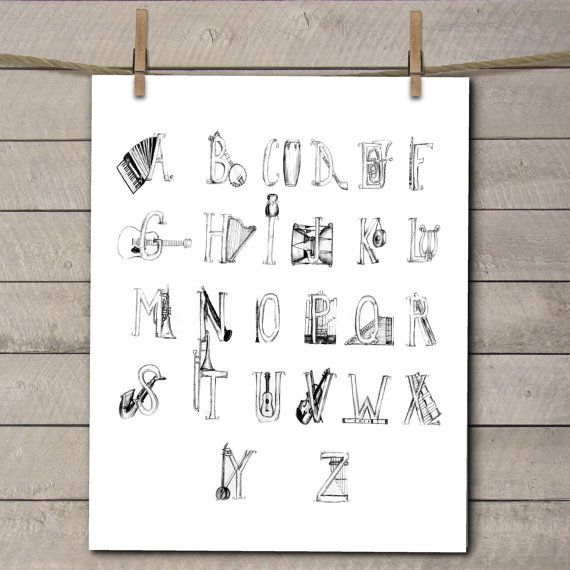Music Themed Nursery Art