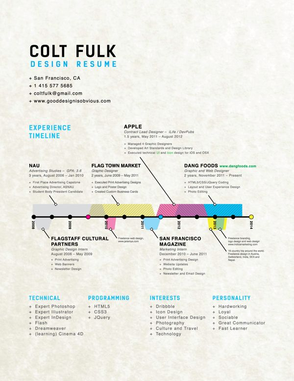 Hire Me | Resumé by Colt Fulk, via Behance