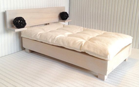 1:6 Play Scale Modern Wooden Scandi Bed  Futon by MadMissyMinis