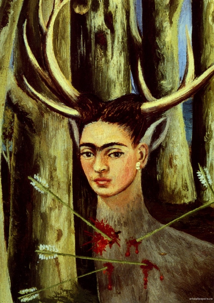 Detail of a Frida Kahlo painting | Frida Kahlo Oil ...